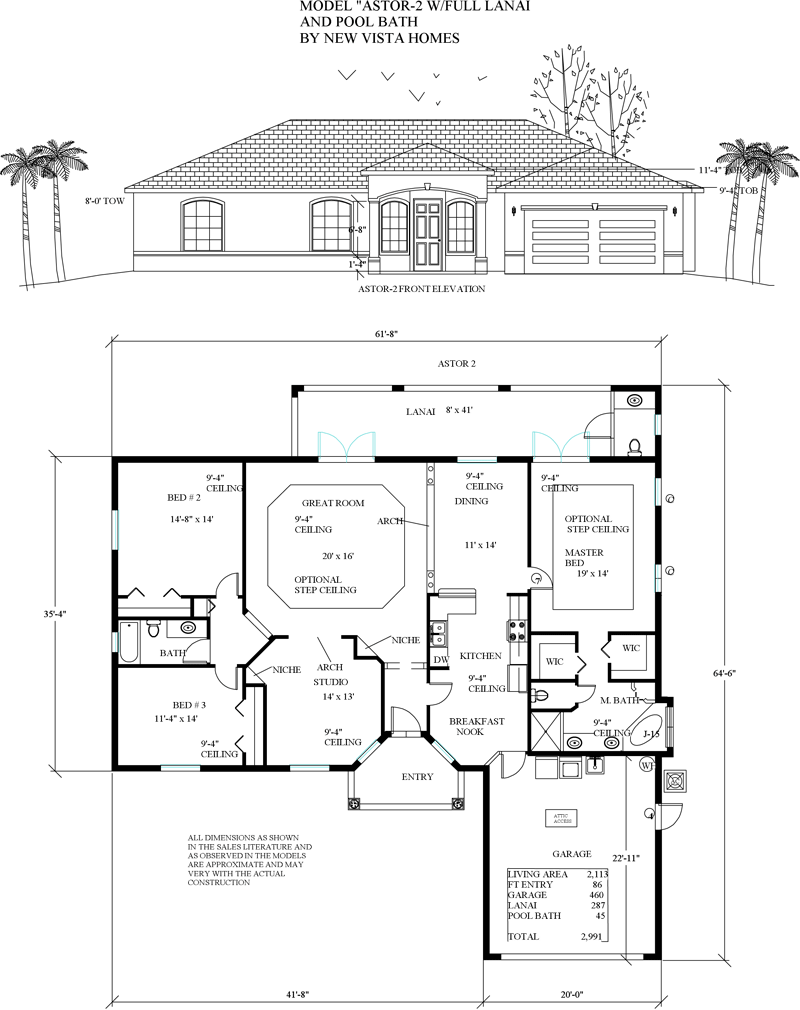 Model floorplans the florida store homesites homes for Florida house plans with lanai